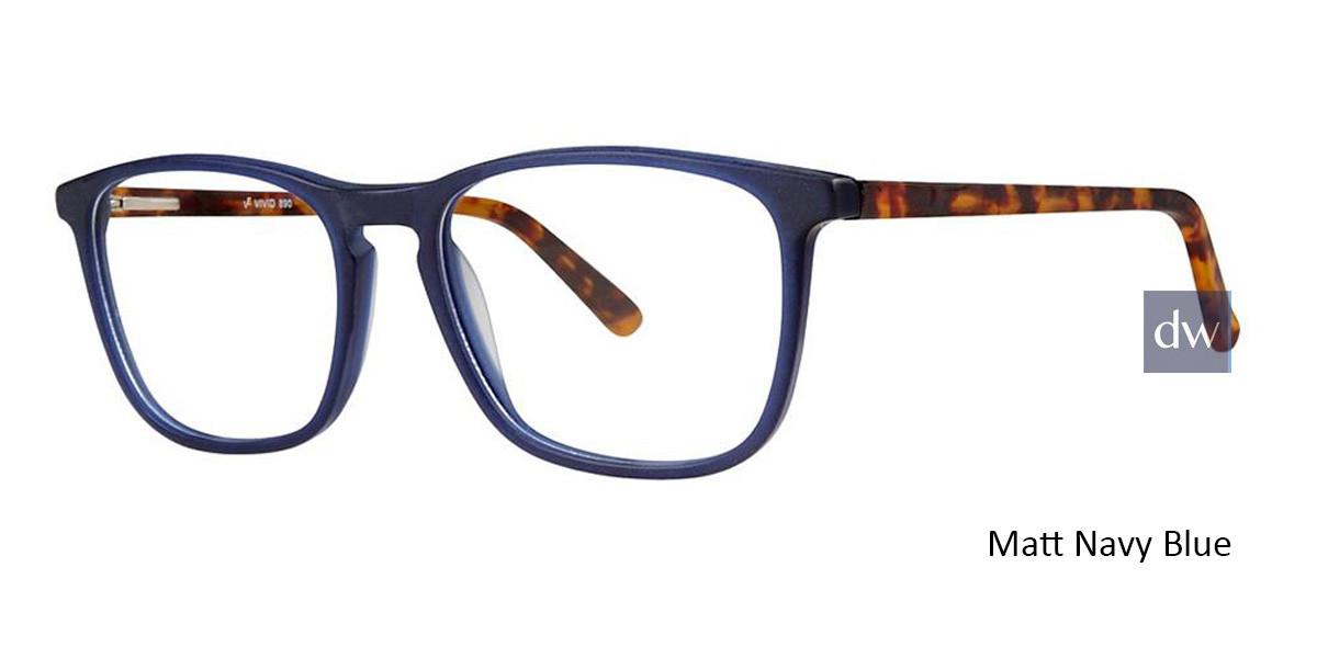 Matt Navy Blue Vivid 890 Eyeglasses
