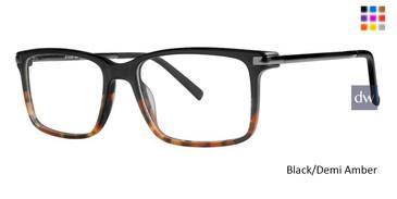 Black/Demi Amber Vivid 888 Eyeglasses