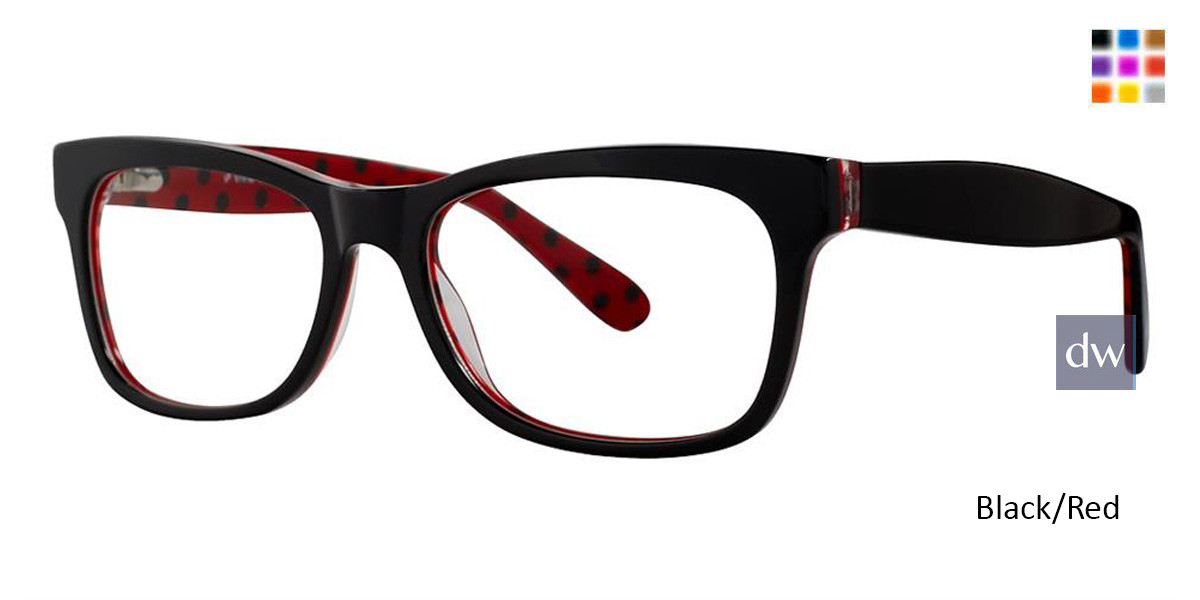 Black/Red Vivid 870 Eyeglasses