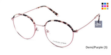 Demi/Purple (3) William Morris Charles Stone NY CSNY30028 Eyeglasses - Teenager