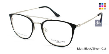 Matt Black/Silver (C1) William Morris Charles Stone NY CSNY30013 Eyeglasses
