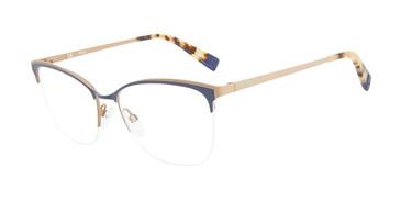 Navy Furla VFU184 Eyeglasses.