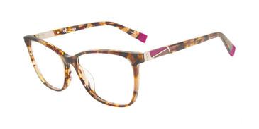 Light Tortoise Furla VFU190 Eyeglasses.