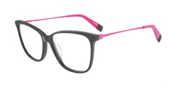 Black Furla VFU200 Eyeglasses.