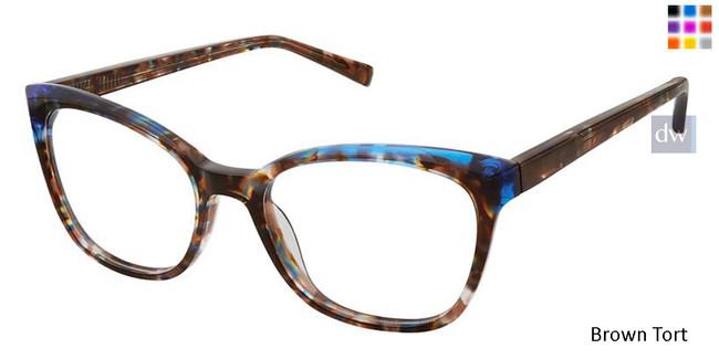 Brown Tort Kliik Denmark 624 Eyeglasses.