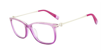 Pink Sparkle Furla VFU187S Eyeglasses.