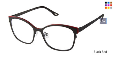 Black Red Kliik Denmark 613 Eyeglasses
