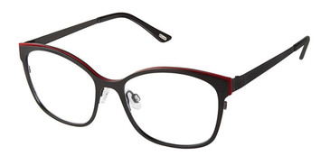 Black Red Kliik Denmark 613 Eyeglasses.