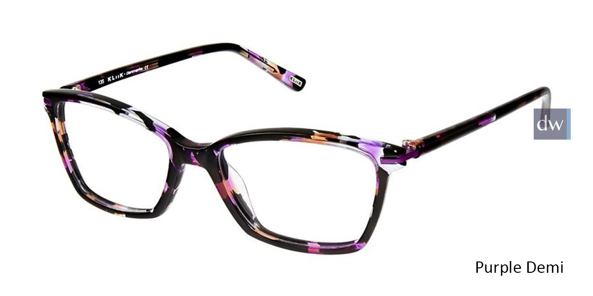 Purple Demi Denmark 607 Eyeglasses - Teenager