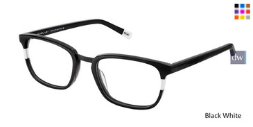 Black White Kliik Denmark 600 Eyeglasses - Teenager