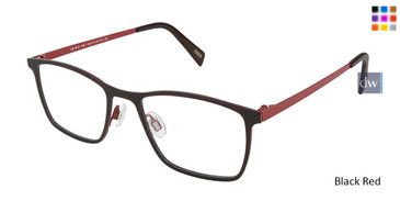 Black Red Kliik Denmark 595 Eyeglasses - Teenager