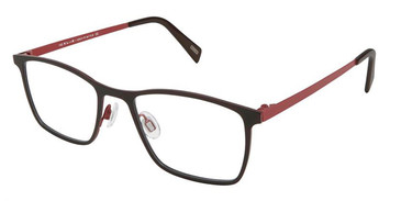 Black Red Kliik Denmark 595 Eyeglasses - Teenager.