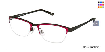 Black Fuchsia Kliik Denmark 594 Eyeglasses - Teenager