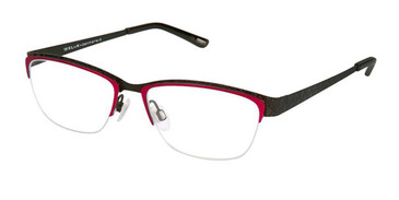 Black Fuchsia Kliik Denmark 594 Eyeglasses - Teenager.