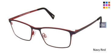 Navy Red Kliik Denmark 591 Eyeglasses.
