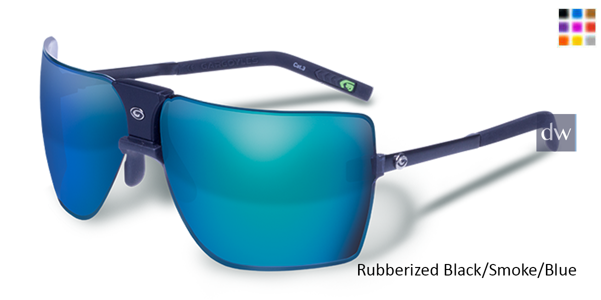 Rubberizer Black/Smoke/Blue 85's Sunglasses.