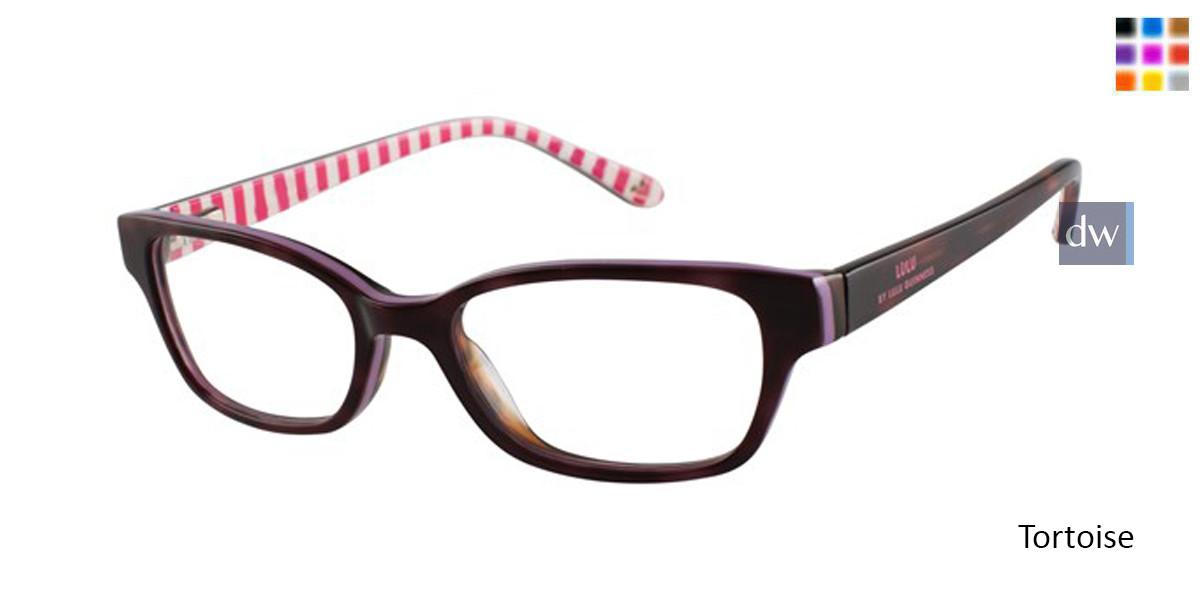 Tortoise Lulu By Lulu Guinness Girls LK010 Eyeglasses - Teenager