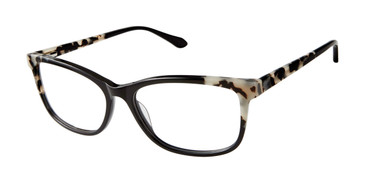 Black Lulu Guinness L211 Eyeglasses.