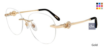 Gold Chopard VCHC53S Eyeglasses