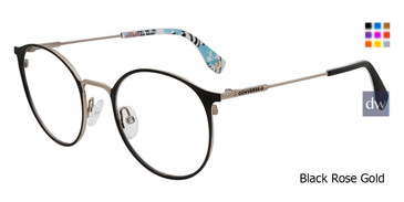 Black Rose Gold Converse Q205 Eyeglasses.