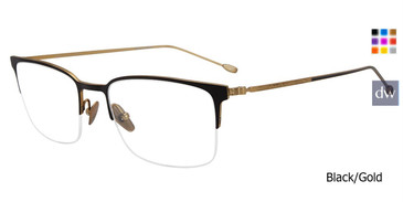 Black/Gold John Varvatos V172 Eyeglasses.