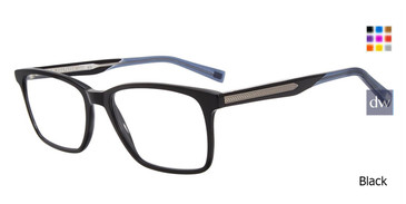 Black John Varvatos V379 Eyeglasses.