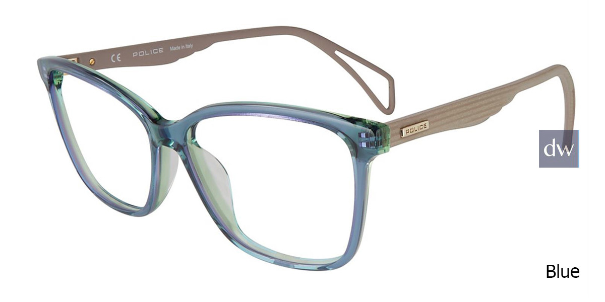 Blue Police  VPL731 Eyeglasses.