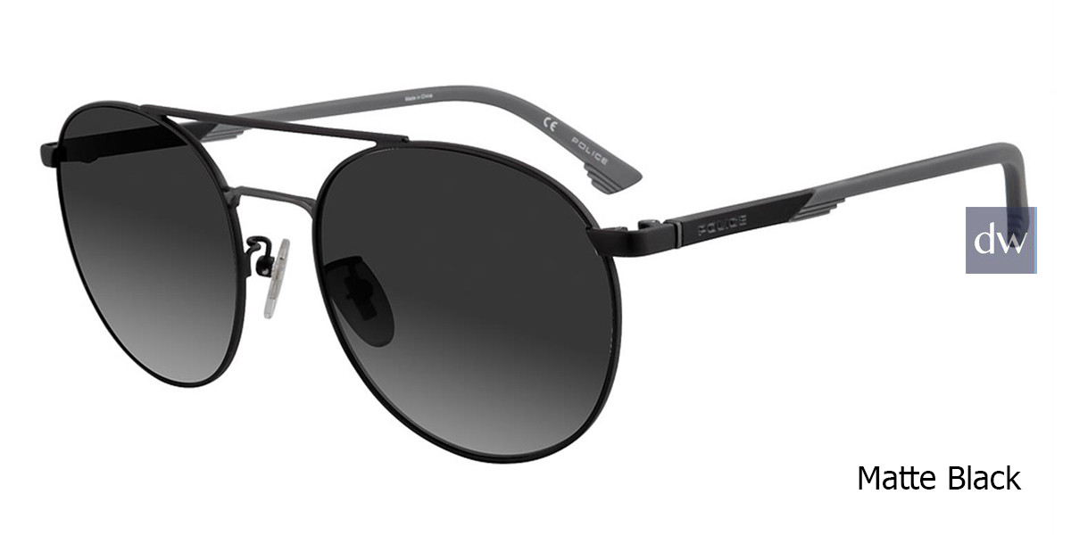 Matte Black Police SPL717 Sunglasses.