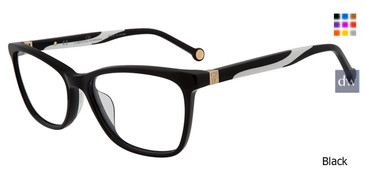 Black Carolina Herrera VHE771K Eyeglasses.