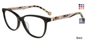 Black Carolina Herrera VHE770K Eyeglasses.