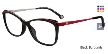 Black Burgundy Carolina Herrera VHE782K Eyeglasses.