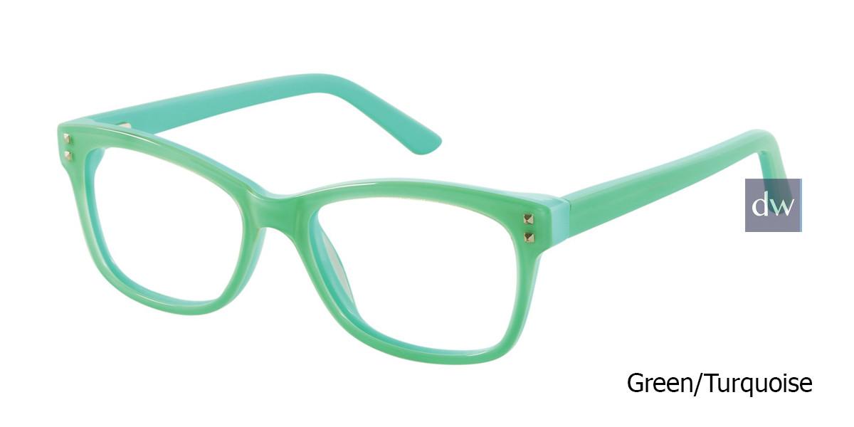 Green/Turquoise Gx By Gwen Stefani GX810 Juniors Eyeglasses - Teenager.