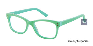 Green/Turquoise Gx By Gwen Stefani GX810 Eyeglasses - Teenager.