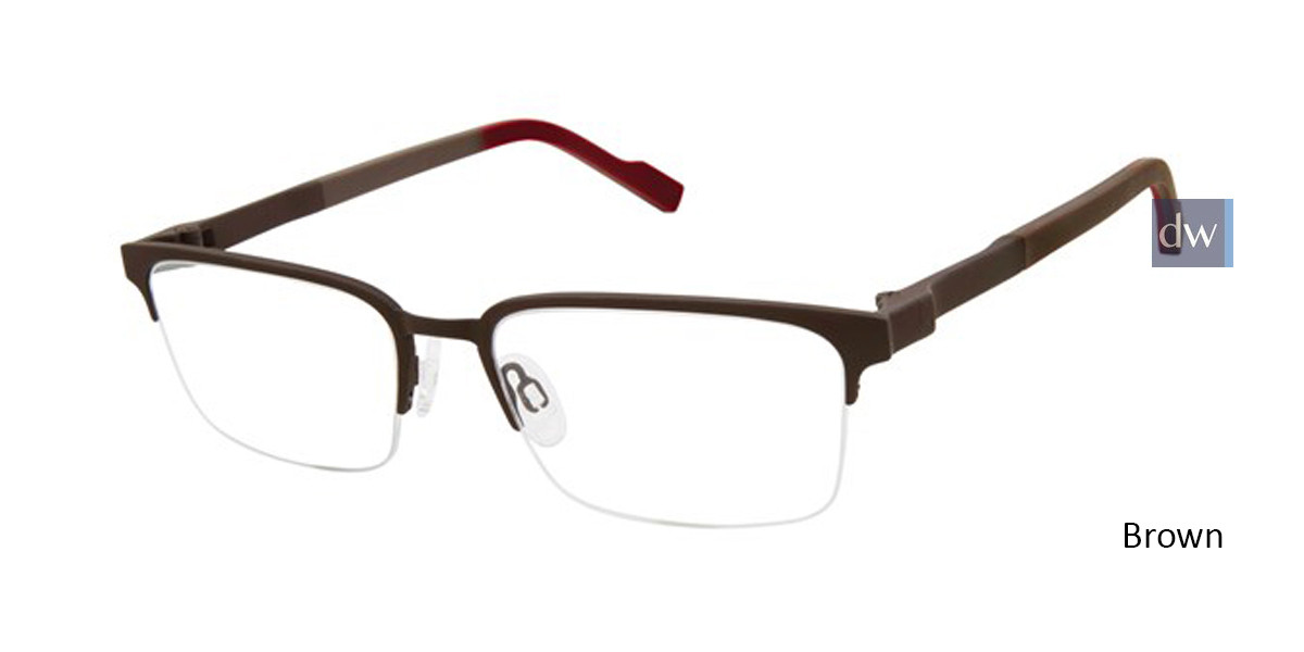 Brown Titan Flex 827028 Eyeglasses.