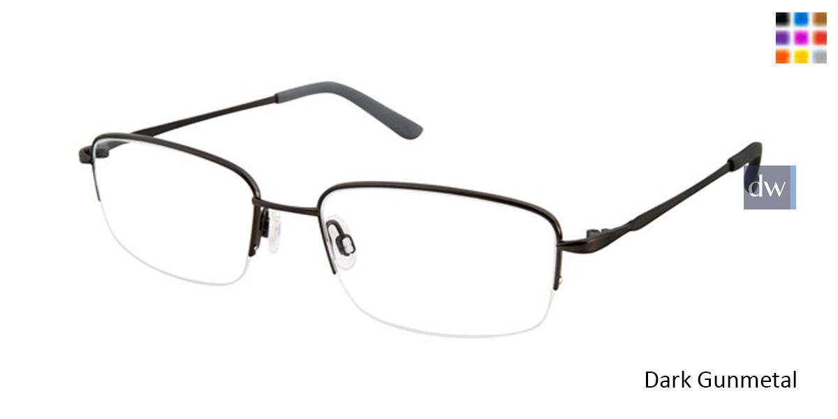 Dark Gunmetal Titan Flex M966 Eyeglasses.