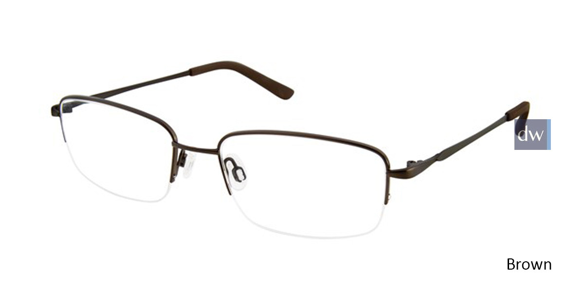 Brown Titan Flex M966 Eyeglasses.