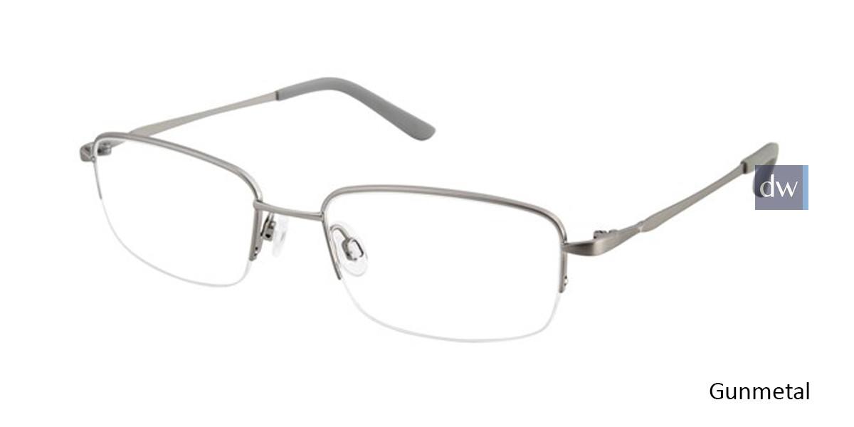Gunmetal Titan Flex M966 Eyeglasses.