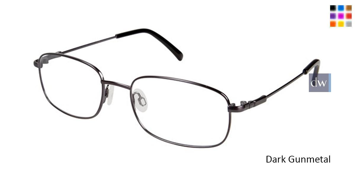 Dark Gunmetal Titan Flex M962 Eyeglasses.