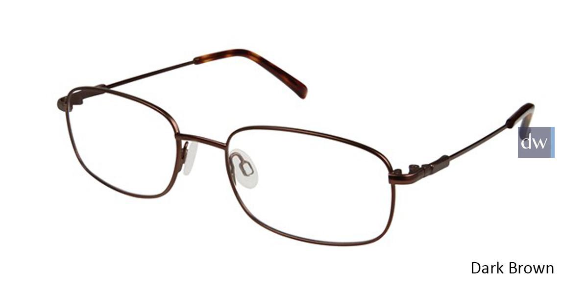 Dark Brown Titan Flex M962 Eyeglasses.