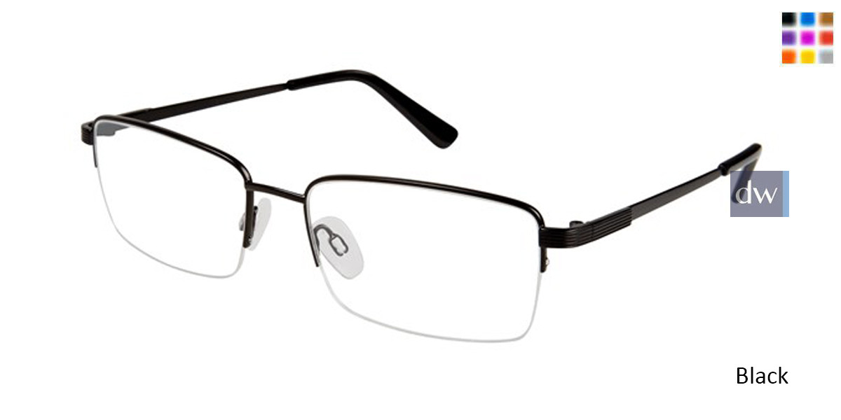 Black Titan Flex M961 Eyeglasses.