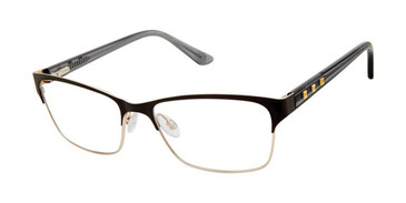 Black/Gold Gx By Gwen Stefani GX049 Eyeglasses.