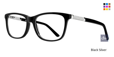 Black Silver Serafina Hope Eyeglasses