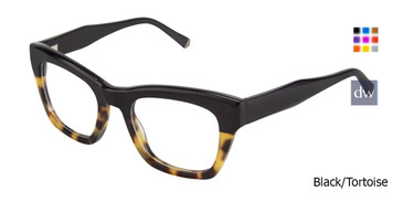 Black/Tortoise Kate Yong For Tura K121 Eyeglasses - Teenager.