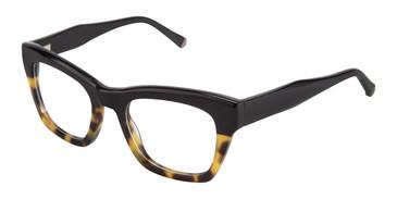 Black/Tortoise Kate Yong For Tura K121 Eyeglasses - Teenager.