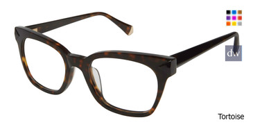 Tortoise Kate Yong For Tura K127 Eyeglasses.