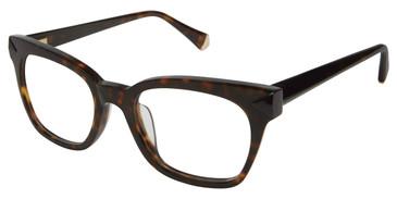 Tortoise Kate Yong For Tura K127 Eyeglasses.