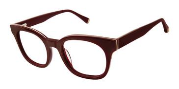 Burgundy Kate Yong For Tura K134 Eyeglasses - Teenager.