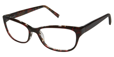 Burgundy Kate Yong For Tura K311 Eyeglasses.