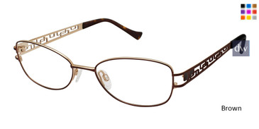 Brown Tura R128 Eyeglasses.