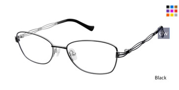 Black Tura R131 Eyeglasses - teenager.